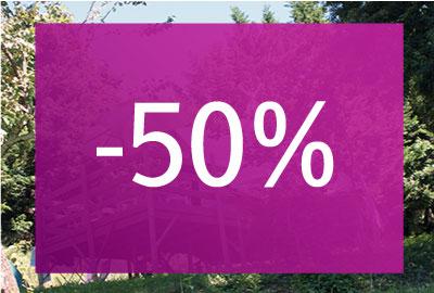 <strong>Frais de réservation à -50%</strong>