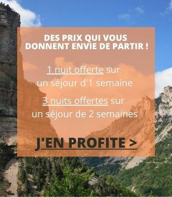 Promotion vacances au camping dans l'Ardèche